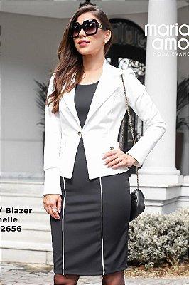 Vestido Preto Moda Evangelica com Blazer Maria Amore 2656