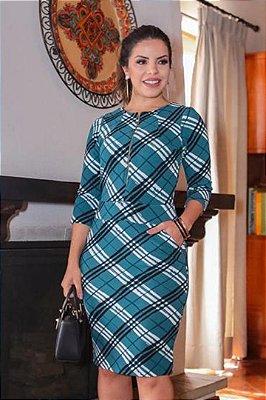 Vestido Moda Evangelica com Ziper Frontal Boutique K 0116