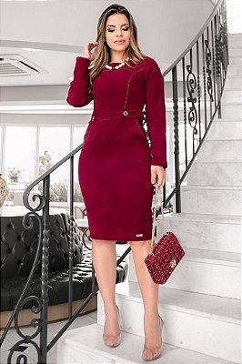 Vestido Moda Evangelica em Veludo Boutique K 0123