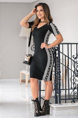 Vestido Moda Evangelica em Moletinho Love Boutique K 4790