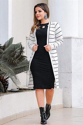 Conjunto de Vestido + Cardigan Moda Evangelica Boutique K 4708