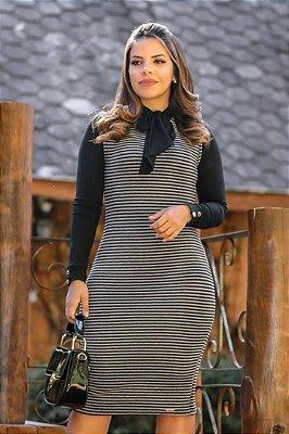 Conjunto Vestido+Camisa Tubinho Moda Evangelica Samantha ENN