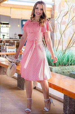 Vestido Lady Like Moda Evangelica em Malha Canelada Boutique K 4798