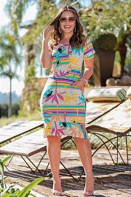 Vestido Tubinho em Malha Moda Evangelica Boutique K 4794