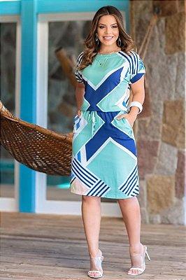 Vestido em Viscose Moda Evangelica com Elástico na Cintura E Bolso Boutique K 5006
