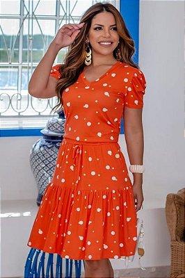 Vestido Moda Evangelica com detalhes em amarração e bolso Boutique K 5065