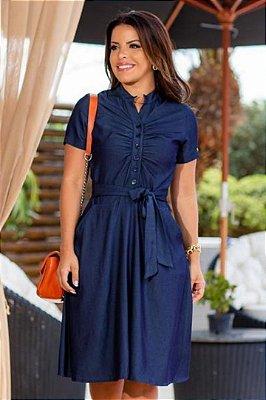 Vestido Lady Like Moda Evangelica em Viscose com detalhes em botões Boutique K 0970