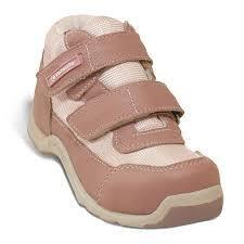Tênis Ortopédico infantil com fechamento em Velcro rosa
