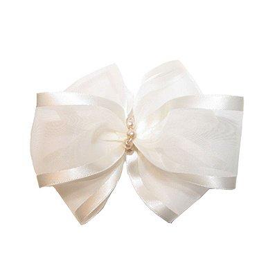 Laço de Organza Branco - Milão