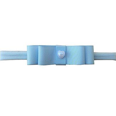 Faixa Laço Chanel Azul Claro