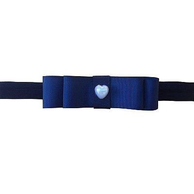 Faixa Laço Chanel Azul Marinho