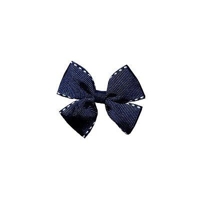 Laço Pequeno Azul Pespontado - Duplo P