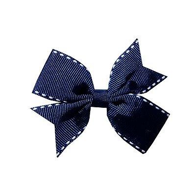 Laço Catavento Simples Azul Pespontado - Catavento Simples - M