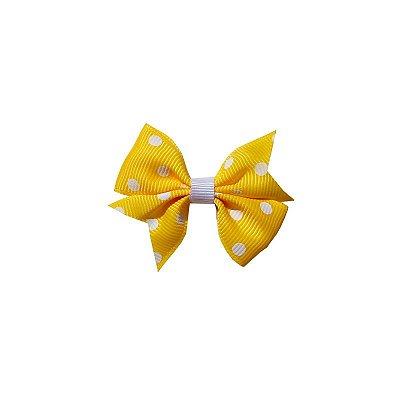 Laço Infantil Amarelo Poá - Provence Petit