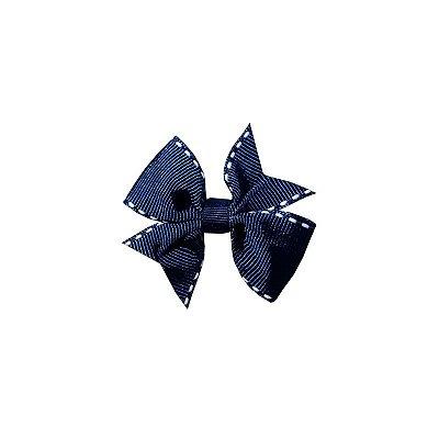 Laço Infantil Azul Pespontado - Provence Petit