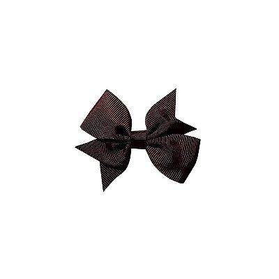 Laço Infantil Marrom Escuro - Catavento Simples P