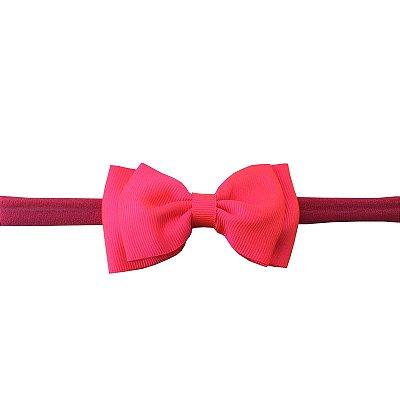 Faixa de Cabelo para Bebê Rosa Pink