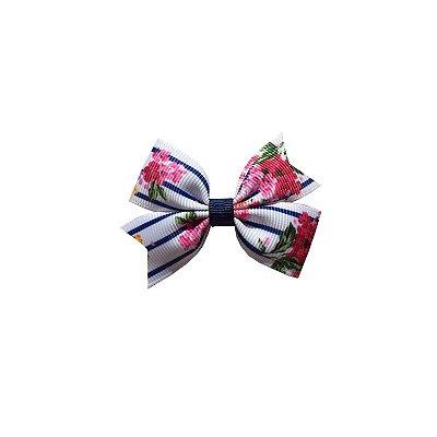 Laço Infantil com Listras e Flores - Provence Petit
