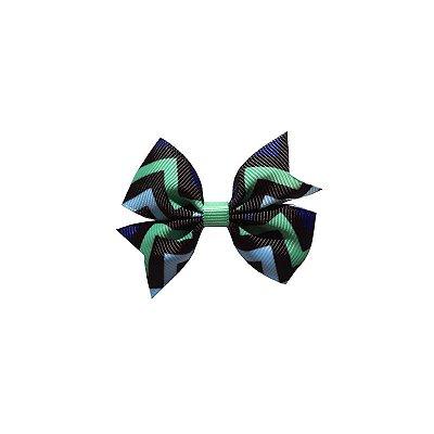 Laço Infantil Listras Azul e Verde - Provence Petit