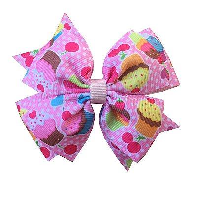 Laço Grande Cupcake Rosa - Barcelona