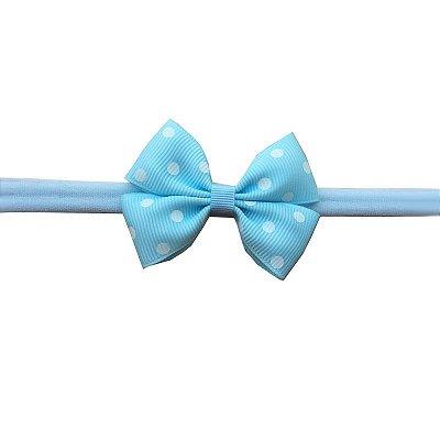 Faixa de Bebê Azul Claro com Poá Branco