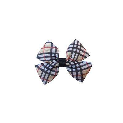 Laço Pequeno Xadrez Burberry - Duplo P
