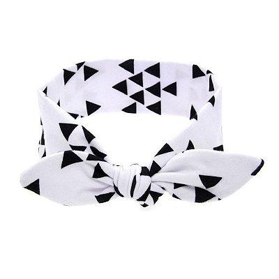 Headband Infantil - Triângulo Preto