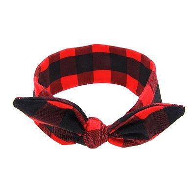 Headband Infantil - Xadrez Vermelho