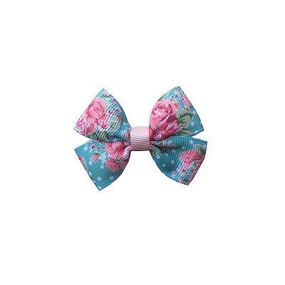 Laço Pequeno Florido com Poá - Paris Petit