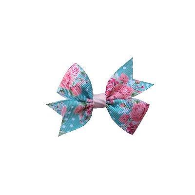 Laço Infantil Florido com Poá - Provence Petit