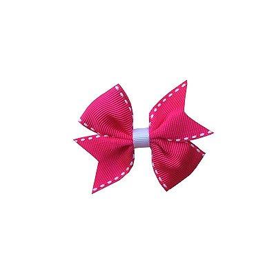 Laço Infantil Rosa Escuro Pespontado - Provence Petit
