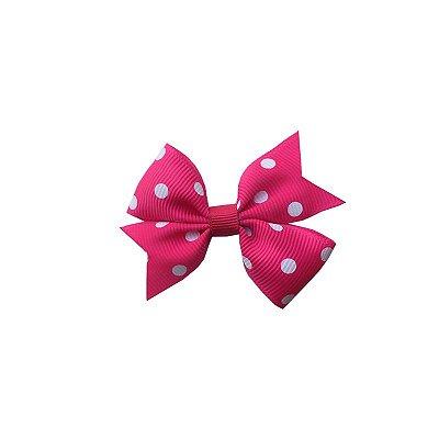 Laço Infantil Rosa Escuro com Poá Branco - Provence Petit