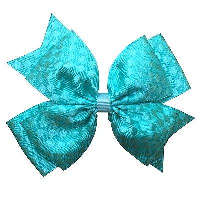 Laço Grande Azul Tiffany Quadriculado - Barcelona
