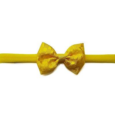 Faixinha para Bebê Amarelo Quadriculado