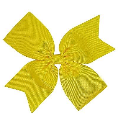 Laço Catavento Simples Grande Amarelo
