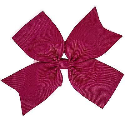 Laço Catavento Simples Grande Rosa Escuro