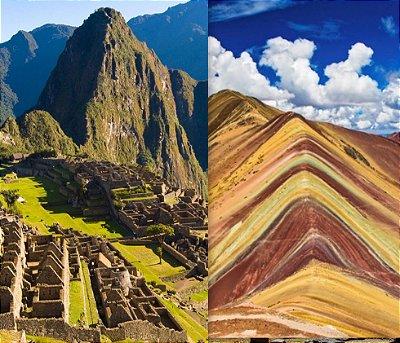 Mochilão Peru Machu Picchu, Cusco e Vale Sagrado e Rainbow Mountain de 7 dias. Saídas diárias.