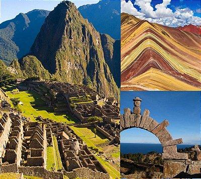 Peru Aventura 2! Cusco, Rainbow Mountain, Machu Picchu e Lago Titicaca. Pacote de 8 dias. Saídas diárias