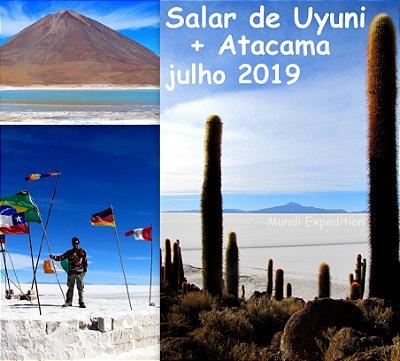 Excursão julho 2019: Salar de Uyuni e Deserto do Atacama 9 dias