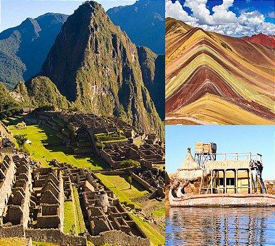 Mochilão Peru Aventura 2! Cusco, Rainbow Mountain, Machu Picchu e Lago Titicaca. Pacote de 8 dias. Saídas diárias
