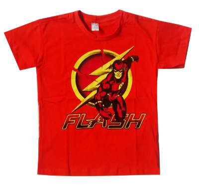 Camisa Infantil The Flash - M- 7 a 9 Anos