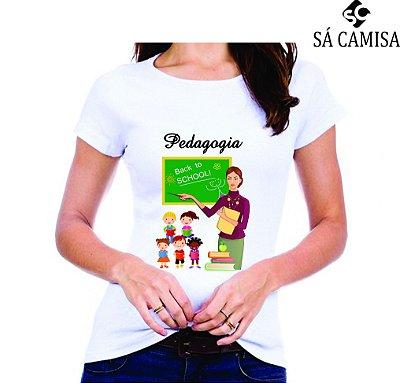 Camisa Feminina Baby Look - Gola Redonda -Pedagogia