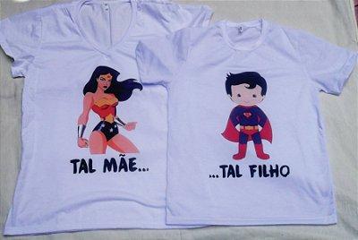 Kit Camisa Tal Mae e Tal Filho-Super Man