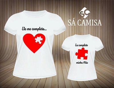 Kit Camisa Tal Mae e Tal Filho-Ele me completa