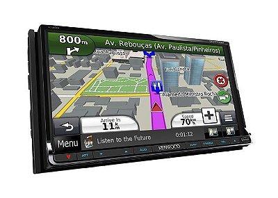 DNX5700BT - Sistema multimída com bluetooth integrado, tela 6.1, comando por voz e GPS Garmin integrado.