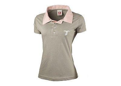 Camisa Polo Cinza e Rose - FEMININO - TROLLER - 0813-12-V1
