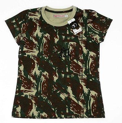 Camiseta Feminina - Wild Troller - Camuflado