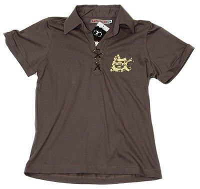 Camisa Polo Feminina Adventure Toller - Marrom