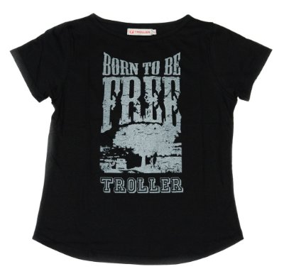 Camiseta Feminina Born to be Free Troller - Preta