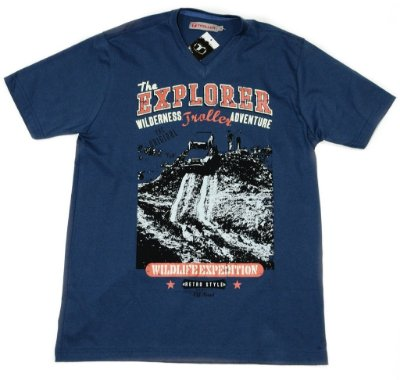 Camiseta Masculina Wildlife Expedition Troller - Azul Petroléo